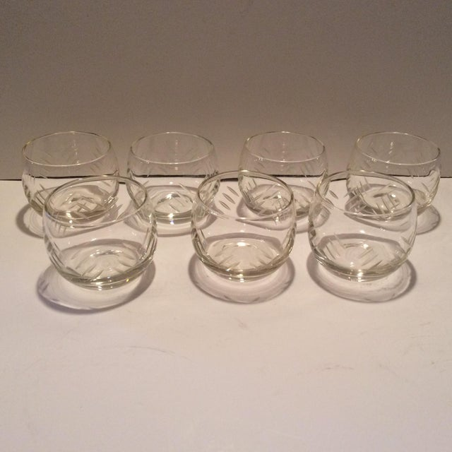 Tastefully done cut Crystal roly poly style glasses.