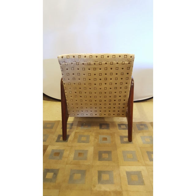 Textile Mid-Century Modern Armchairs - A Pair For Sale - Image 7 of 8