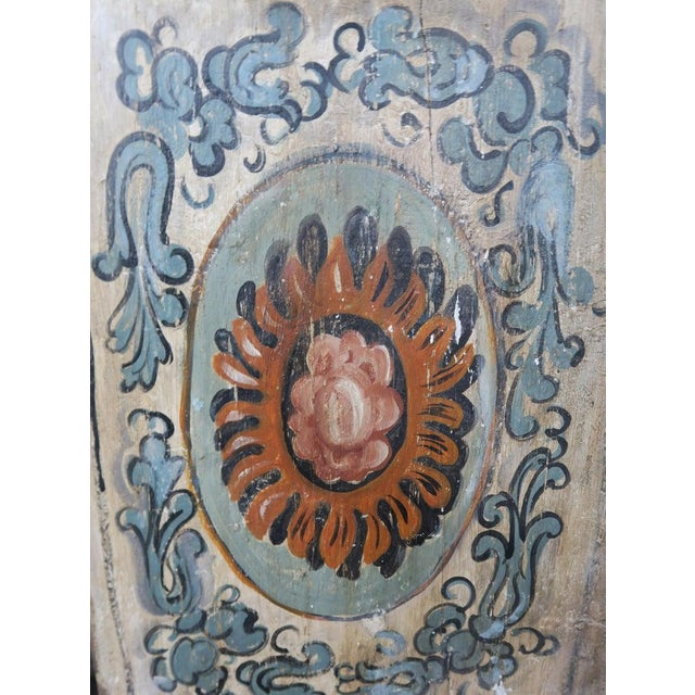 Blue Pair of 19th Century Painted Italian Panels For Sale - Image 8 of 10