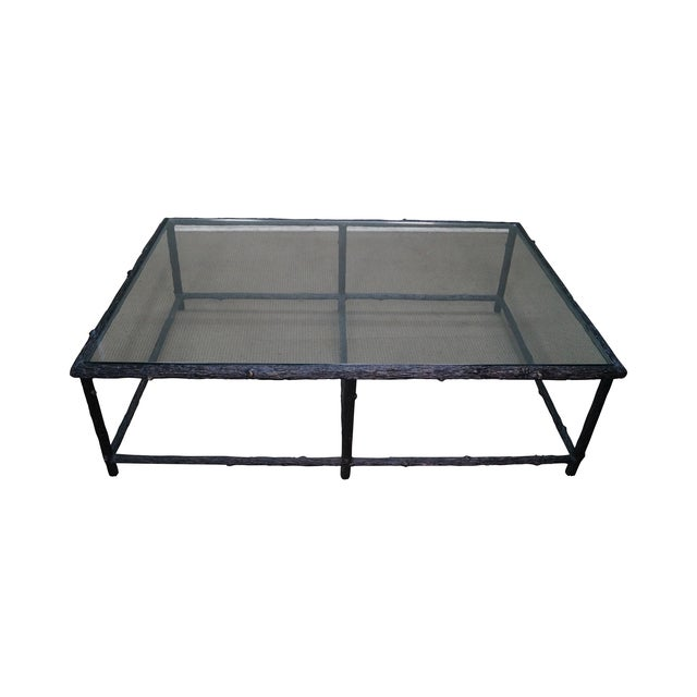 Faux Branch Coffee Table With Glass Top - Image 1 of 10
