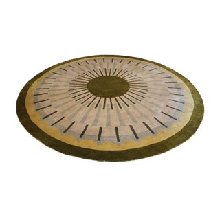 Huge Round Designer Carpet by Lucien Rollin for William Switzer For Sale