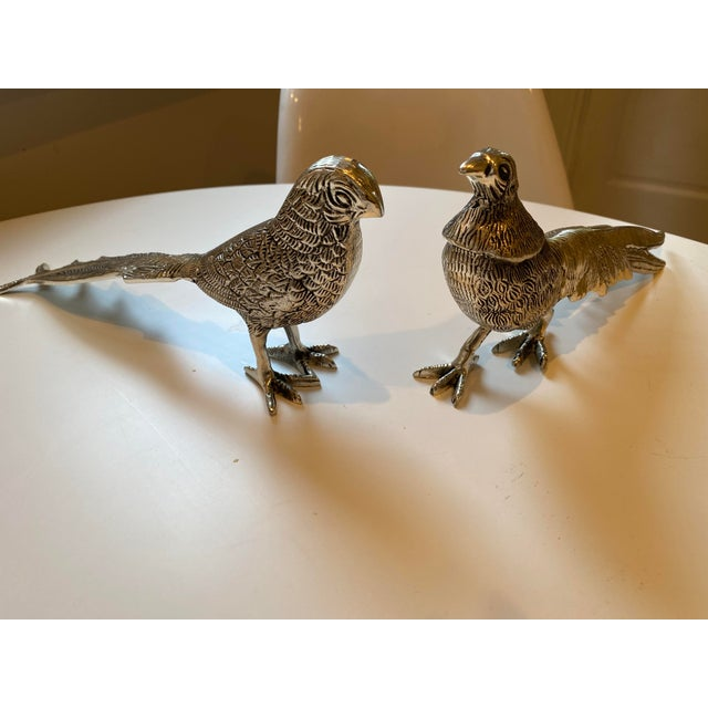 Birds Silver Figurines - A Pair For Sale - Image 6 of 7