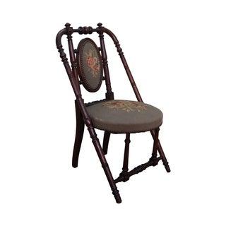 Hunzinger Antique Needlepoint Side Chair