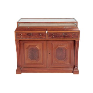 William IV Mahogany Cabinet With Vitrine / Display Top For Sale