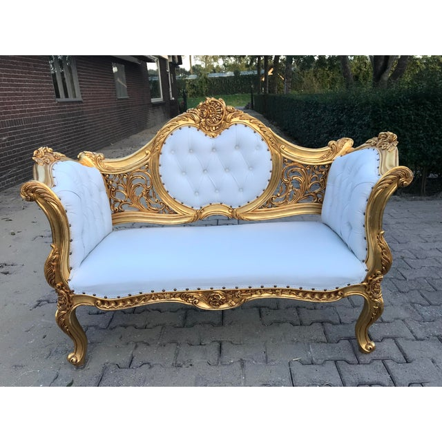 French Louis XVI Style Settee For Sale In Miami - Image 6 of 12