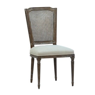 Vintage Style Oak & Rattan Chair For Sale