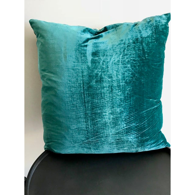 2010s Modern Mid Century Style Scarf Decorative Pillow For Sale - Image 5 of 8