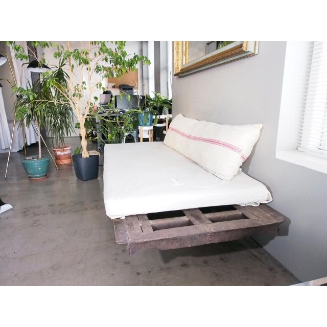 Late 20th Century Vintage Railroad Cart Daybed For Sale - Image 4 of 13