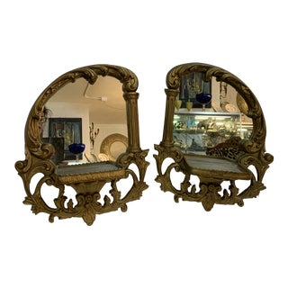 1920s French Art Nouveau Wall Mirrors - a Pair For Sale