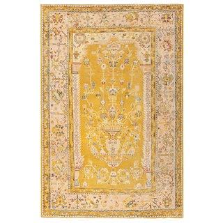 Antique Turkish Oushak Light Colored Carpet - 8′8″ × 13′2″ For Sale