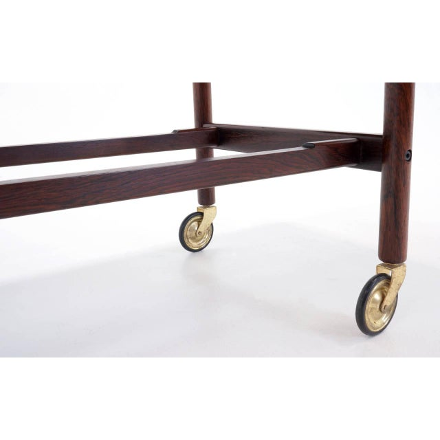 Expandable Rosewood Bar/Serving Cart by Jason Mobler, Denmark For Sale - Image 9 of 10