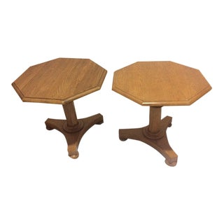 Octagonal Side Tables - A Pair For Sale