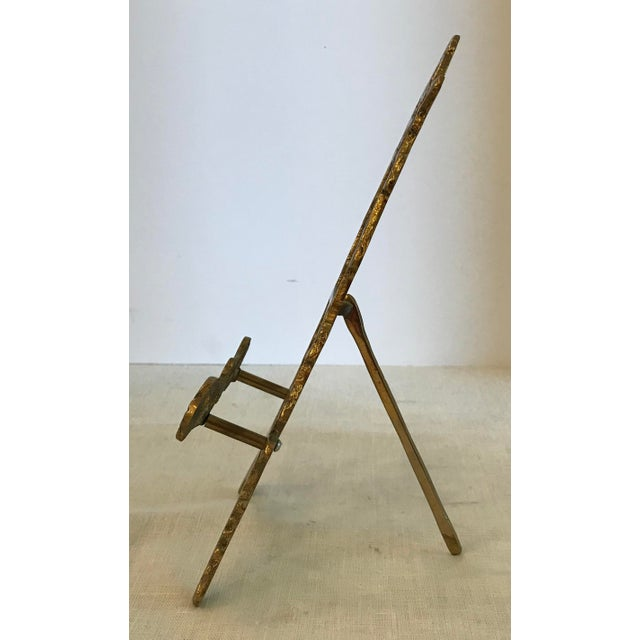 Smaller brass easel with nice detail!
