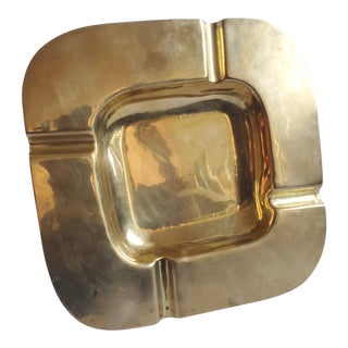 Vintage Mid-Century Solid Brass Ashtray/Catchall For Sale