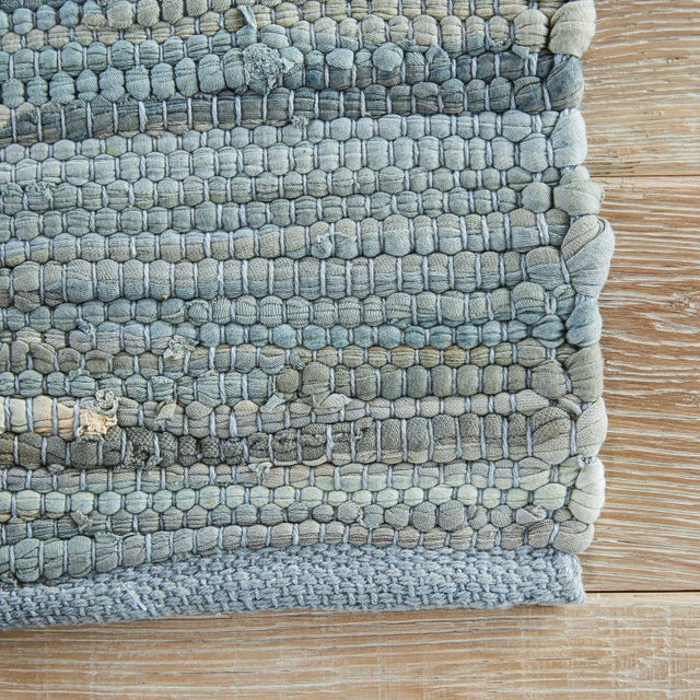 Contemporary Jaipur Living Raggedy Handmade Solid Blue & Gray Area Rug - 8' X 10' For Sale - Image 3 of 6