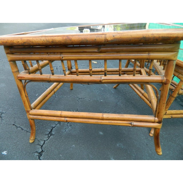 Vintage Mersman Rattan Chippendale End Tables - a Pair - Image 5 of 7