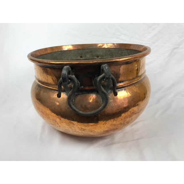 Islamic 20th Century Traditional Hammered Copper Kettle Cauldron For Sale - Image 3 of 9