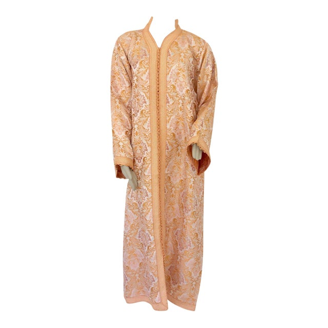 Moroccan Caftan in Gold Brocade For Sale