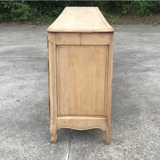 19th Century Grand Country French Stripped Oak Buffet For Sale - Image 11 of 13
