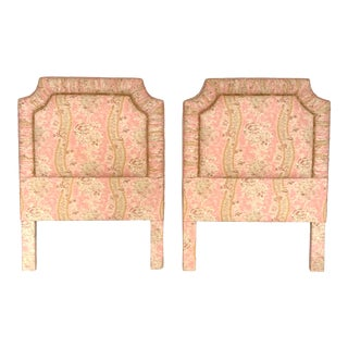 Vintage Custom Padded Twin Headboards - a Pair For Sale
