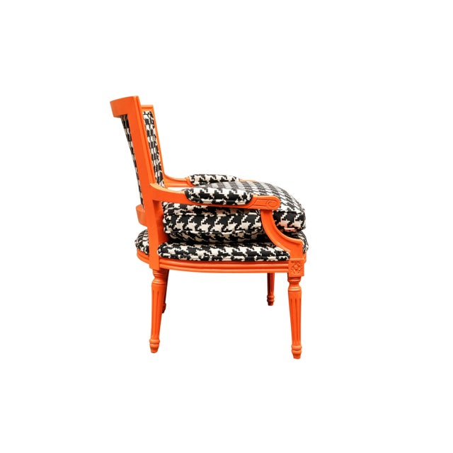 1940s Traditional French Lounge Chair For Sale - Image 4 of 7