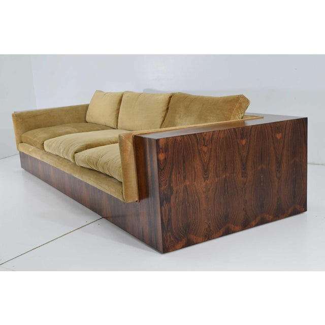 Milo Baughman for Thayer Coggin Rosewood Case Sofa For Sale - Image 10 of 13