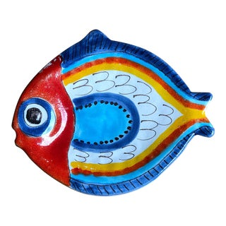Giovanni DeSimone Italian Fish Plate For Sale