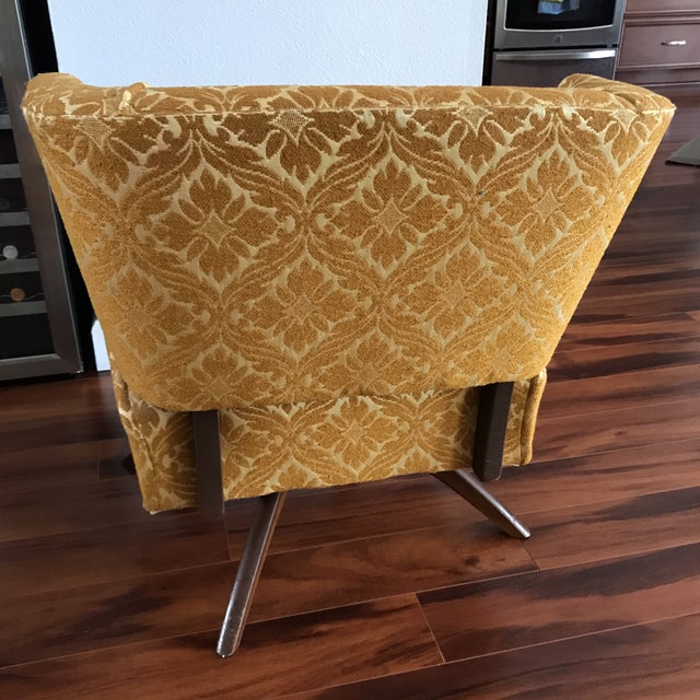 1960s 1960s Vintage Vanity Swivel Chair For Sale - Image 5 of 8
