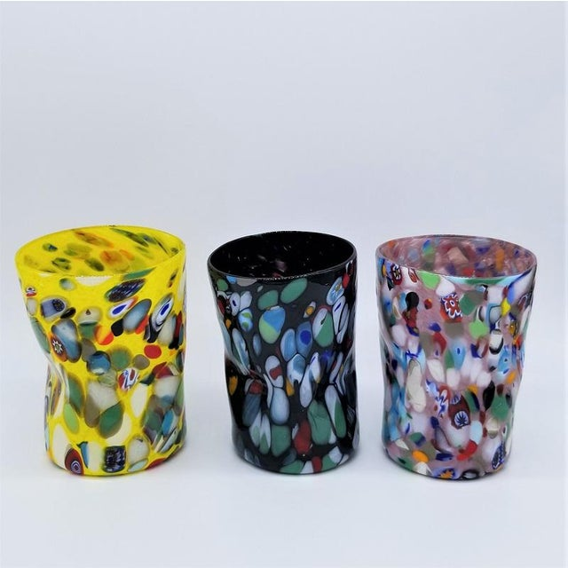 Glass Studio, Murano Murano Glass Custom Set of 10 Glasses Goti For Sale - Image 4 of 11