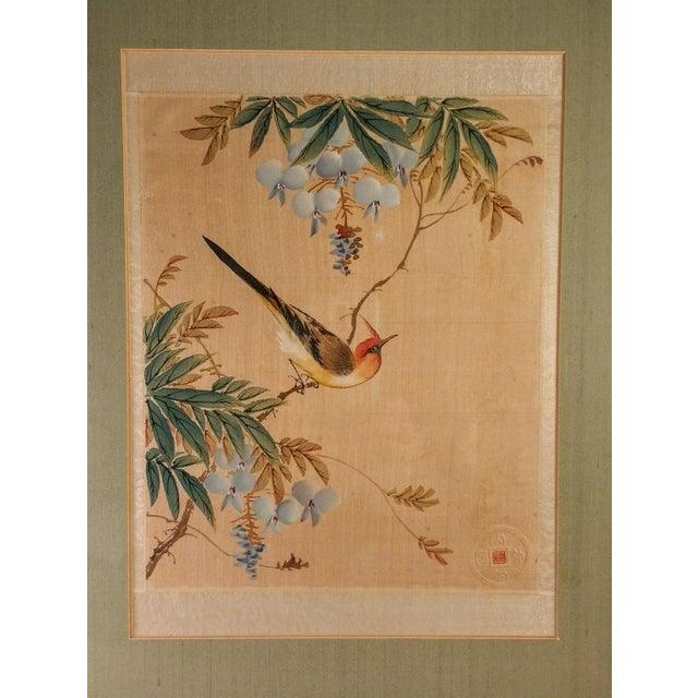 Asian Bird in Flowering Tree - Image 3 of 5