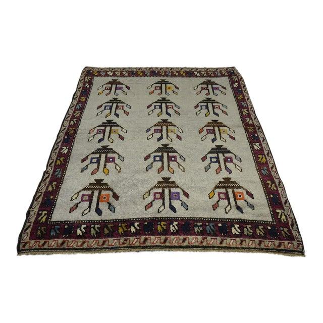 "Vintage Turkish Anatolian Decorative Rug - ′3'10""x4'6"" For Sale"
