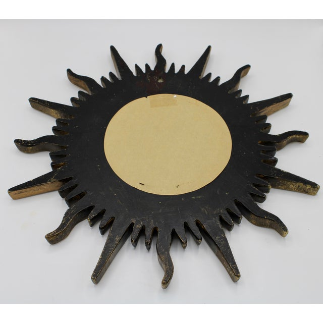 Antique French Sunburst Mirror For Sale In Tulsa - Image 6 of 13