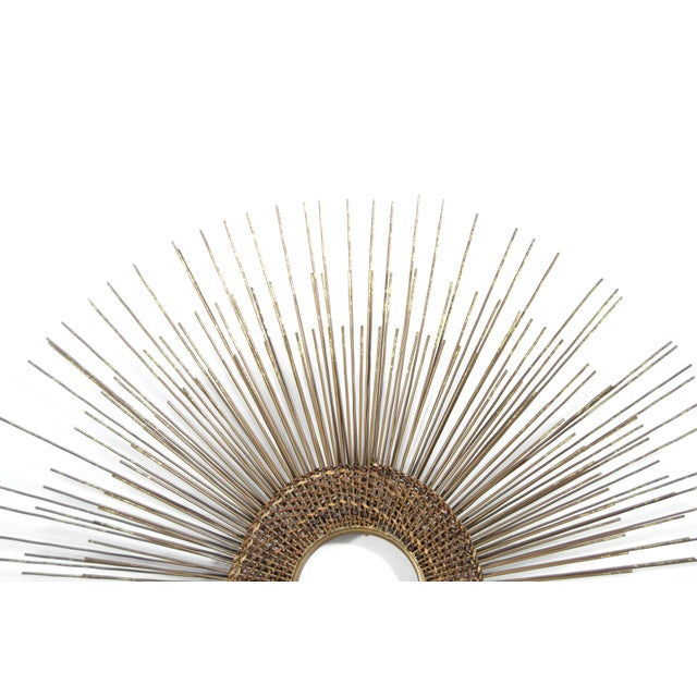 1950s Woven Sunburst Wall Sculpture For Sale In New York - Image 6 of 9