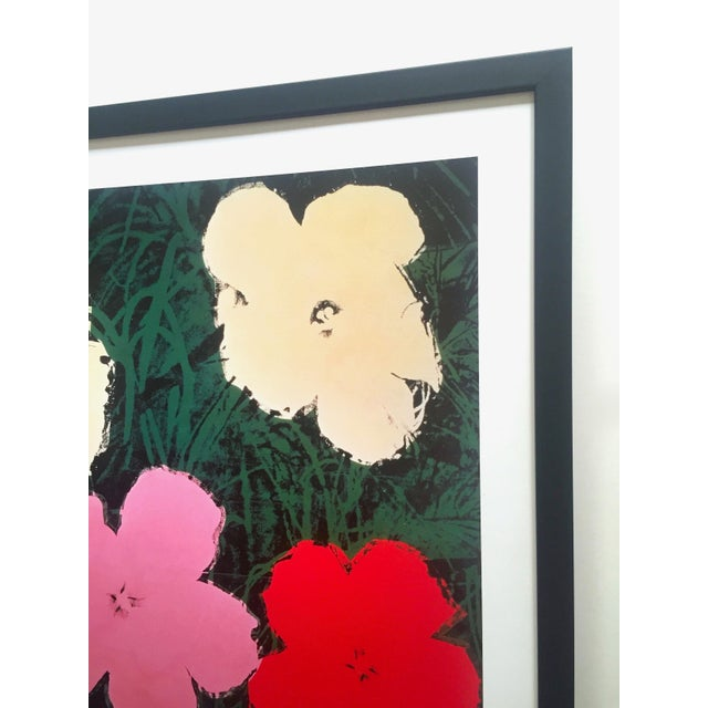 """Andy Warhol Foundation Vintage Lithograph Print Framed Pop Art Poster """" Flowers III """" 1964 For Sale - Image 10 of 13"""