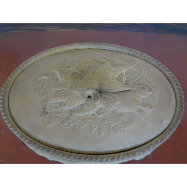 French Antique French Caneware Game Pie Dish For Sale - Image 3 of 11