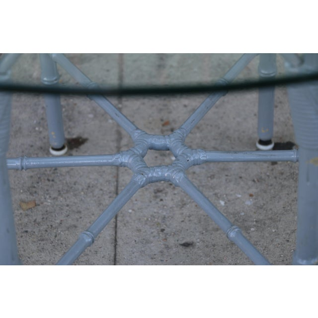 Metal Venemen Outdoor Cast Iron Patio Set For Sale - Image 7 of 13