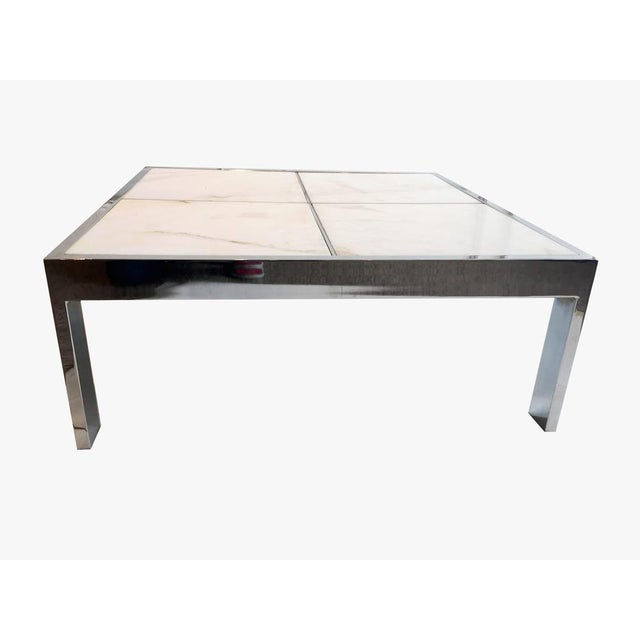 Pace Chrome & Marble Coffee Table - Image 3 of 4