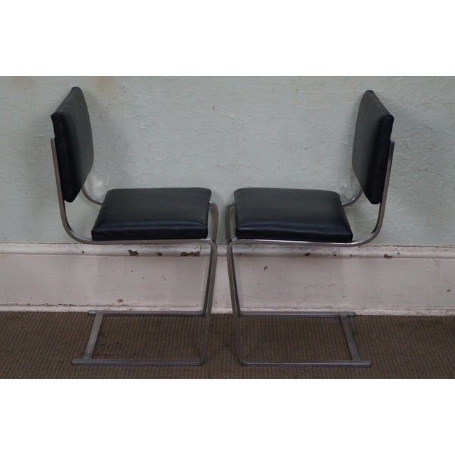 Mid-Century Modern Mies Van der Rohe BRNO Armless Side Dining Chairs - Set of 4 For Sale - Image 3 of 10