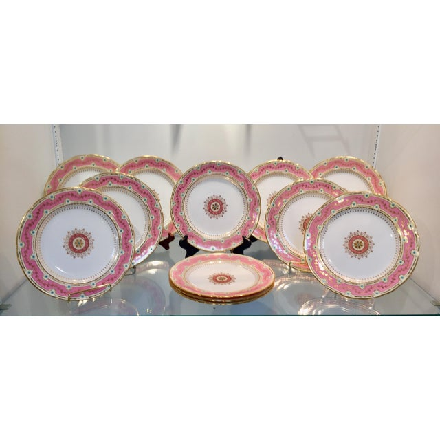 Early 20th Century Antique Minton for Tiffany Plates - Set of 12 For Sale - Image 9 of 9