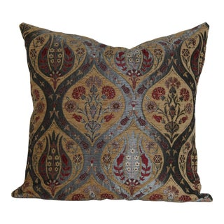 Ottoman Floral Tulip Decorative Throw Pillow For Sale