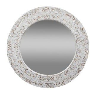 Mother of Pearl Round Mirror For Sale