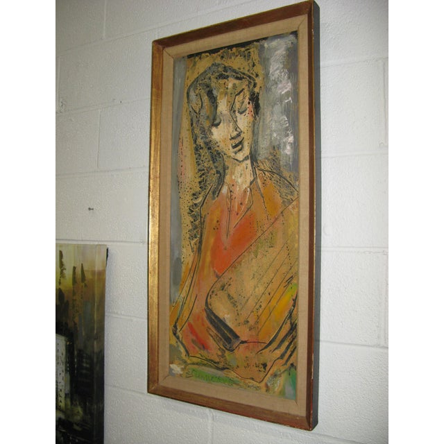 Etienne Ret Cubist Portrait Oil Painting - Image 7 of 7