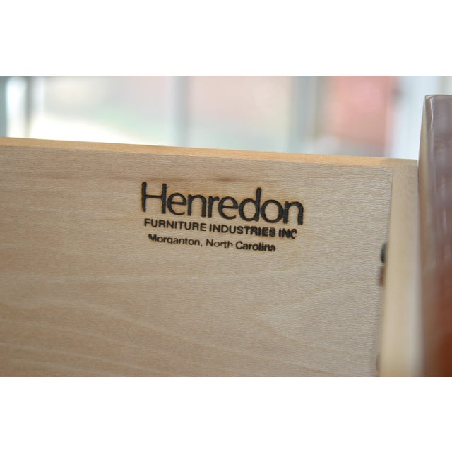 Henredon Black Lacquer & Koa Wood Dressers - A Pair - Image 8 of 11