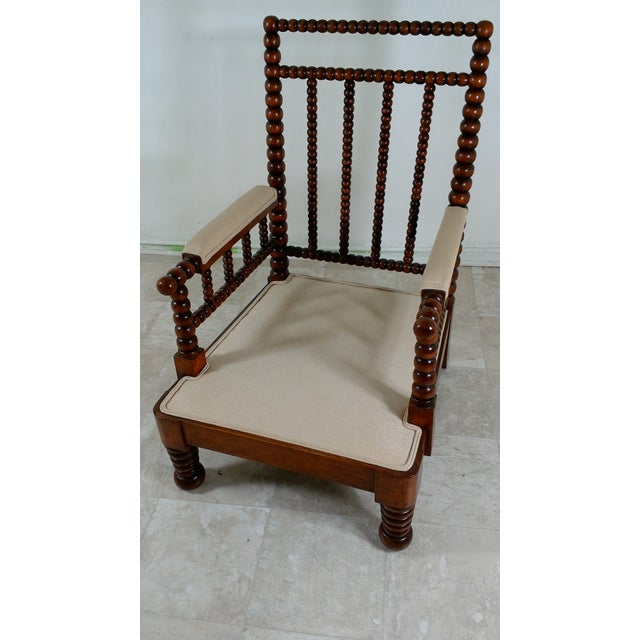 1980s Robert Scott Walnut Accent Chair For Sale In Los Angeles - Image 6 of 11