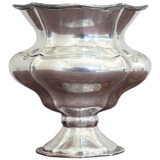 20th Century Italian Sterling Silver 800 Vase, 1970s For Sale