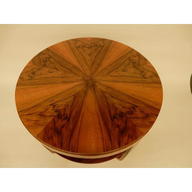 Round Art Deco Walnut Side Table For Sale In New Orleans - Image 6 of 7