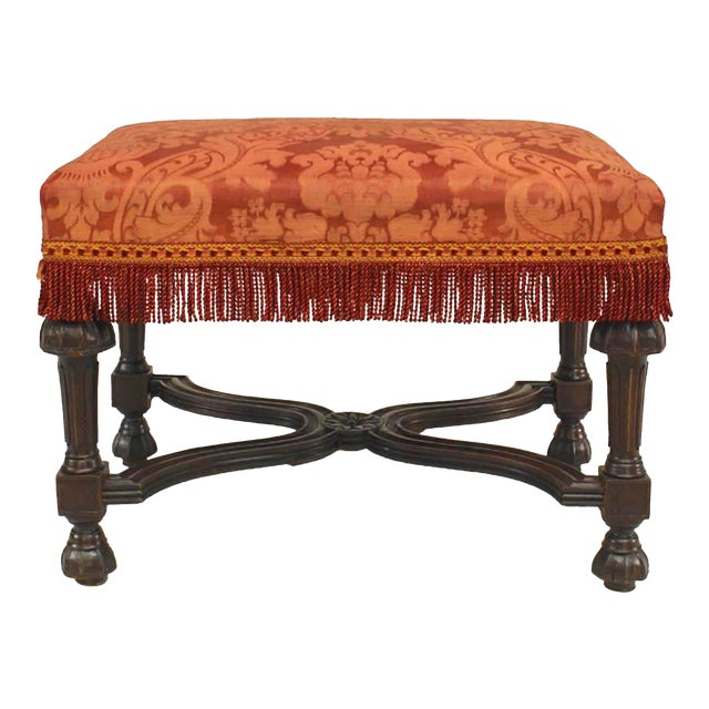 French Louis XIV Style '19th Century' Stained Oak Rectangular Bench For Sale