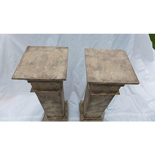 Architectural Decor Finish Wood Pedestals - A Pair - Image 4 of 7