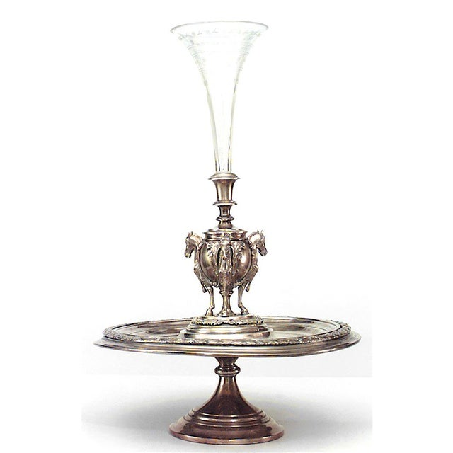 English Victorian Compote with Horse Figures For Sale - Image 4 of 4