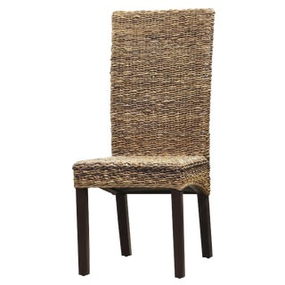 Modern Hand Woven Banana Leaf Dining Chair For Sale